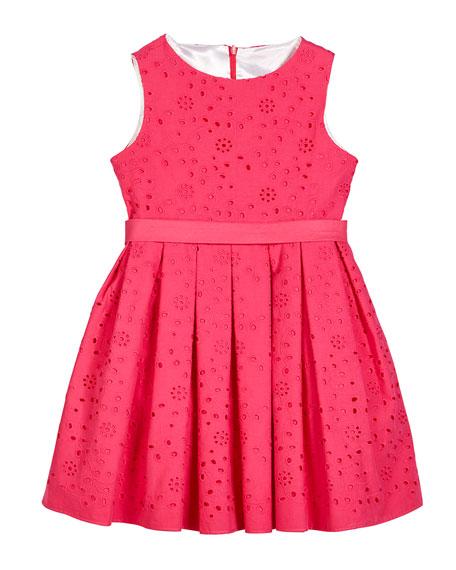 Helena Eyelet Embroidered Sleeveless Dress, Size 7-14