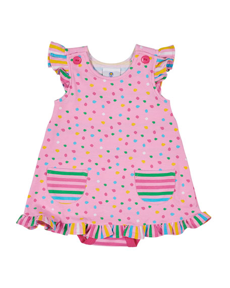 Florence Eiseman Multi Dot Dress w/ Attached Bodysuit,