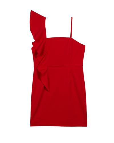 Frankie Cady Ruffle-Trim Dress  Size 7-16