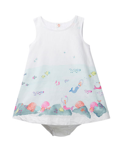 Bunty Under the Sea Print Dress w/ Matching Bloomers  Size 6-24 Months