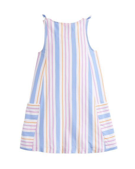 Madeline Multi-Stripe Sleeveless Dress, Size 3-10