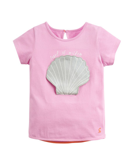 Joules Pearl of Wisdom Applique Tee, Size 2-6