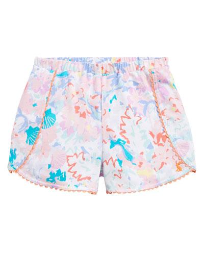 Suzette Seashell Print Shorts w/ Rick Rack Trim  Size 2-6