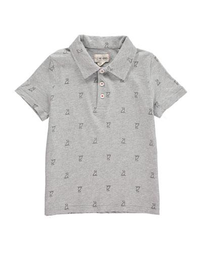 Logo Print Polo Shirt  Size 2T-10