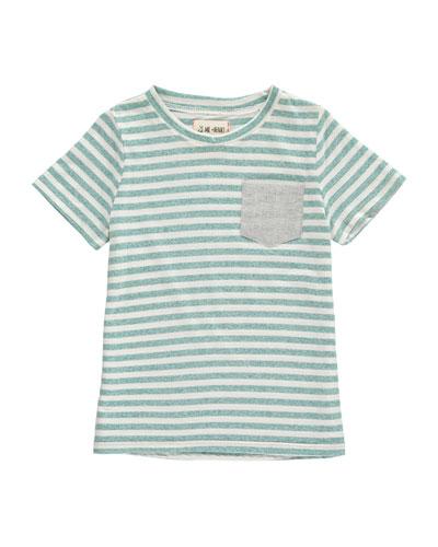 Striped Pocket Tee  Size 2T-10