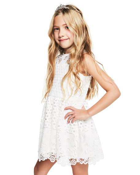 Perry Lace Sleeveless Dress, Size 8-16