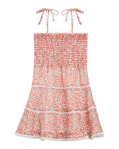 35619870bfda Cindy Cherry Print Shirred Dress Size 8-16 Quick Look. Bardot Junior