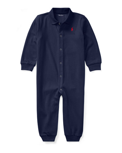 Cotton Polo Coverall  Size 3-12 Months