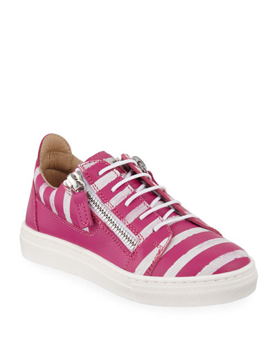 London Striped Leather Low-Top Sneakers  Toddler/Kids