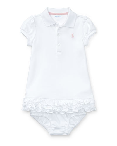 Cupcake Ruffle Hem Polo Dress w/ Bloomers  Size 6-18 Months