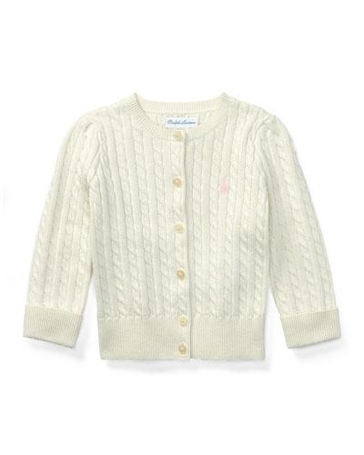 Cable Knit Cotton Cardigan  Size 3-12 Months