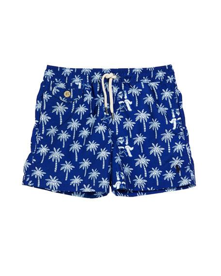 Ralph Lauren Childrenswear Palm Tree Print Traveler Swim