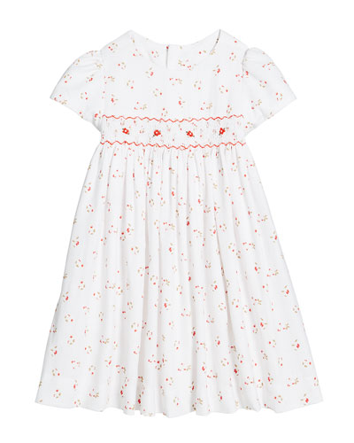 aabbd6d14 Floral Smocked Waist Dress Size 2-4T Quick Look. Luli & Me