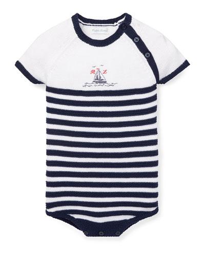 Knit Stripe Bodysuit  Size 3-12 Months