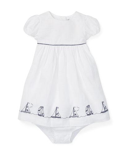 38d7f7eaf322 Nautical Hem Woven Dress w  Bloomers Size 6-24 Months Quick Look. Ralph  Lauren Childrenswear