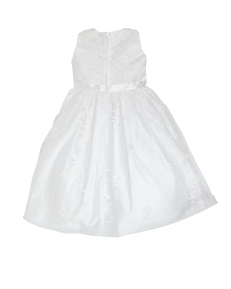 Lace Overlay Tea Length Dress, Size 4-10