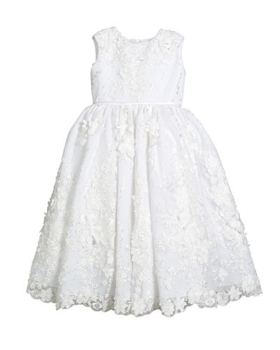Sequin & Lace Over Tulle Dress  Size 4-10