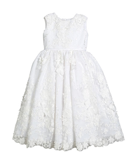 Sequin & Lace Over Tulle Dress, Size 4-10