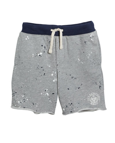 Paint Splatter Drawstring Sweat Shorts  Size 2-4