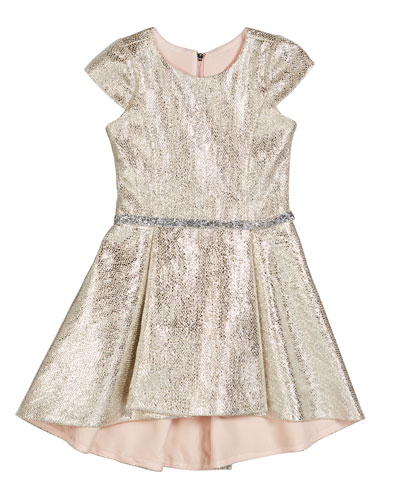 Sabine Metallic High-Low Dress  Size 7-16