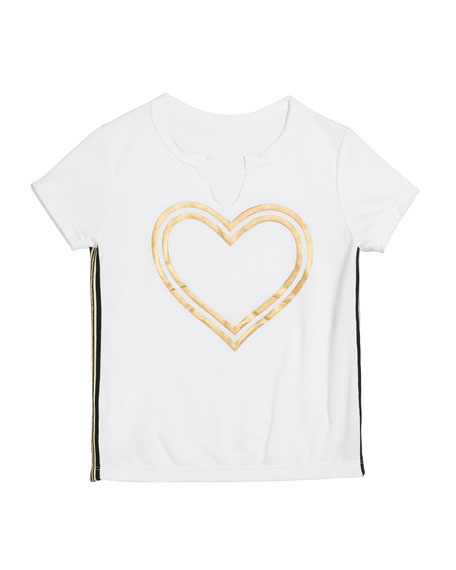 Flowers By Zoe Gold Foil Heart Tee, Size