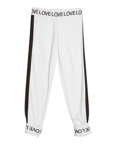 Love Print Two-Tone Sweatpants  Size S-XL