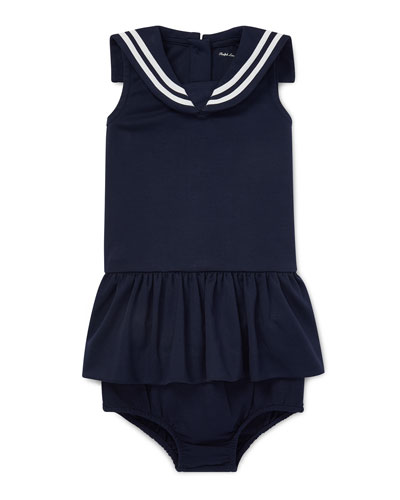 258abdaa81 Sleeveless Nautical Sailor Dress w/ Matching Bloomers Size 6-24 Months  Quick Look. Ralph Lauren Childrenswear