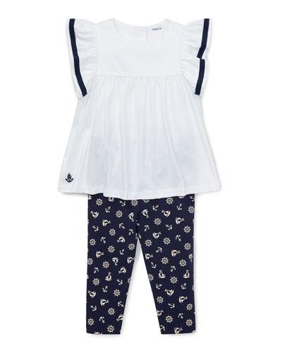 bc9a5adb51461 Stripe Sleeve Top w/ Nautical Print Leggings Size 6-24 Months Quick Look. Ralph  Lauren Childrenswear