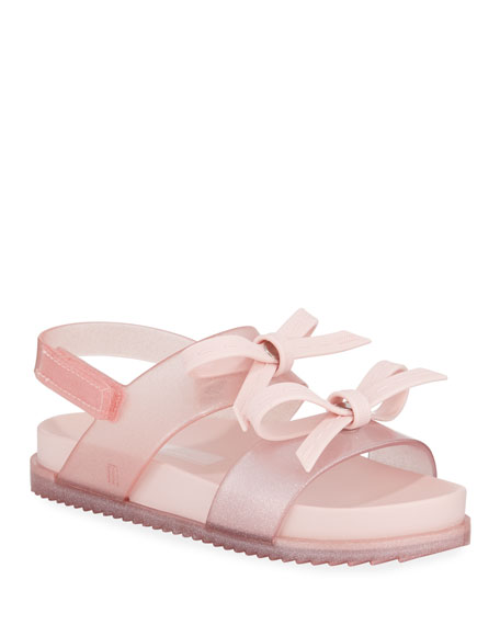 Mini Melissa Cosmic Glittered Bow Sandal, Baby/Toddler/Kids
