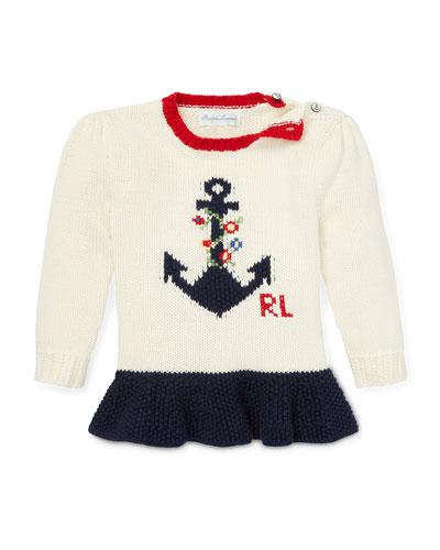 3758a2cbfba0f Anchor Intarsia Peplum Sweater Size 6-24 Months Quick Look. Ralph Lauren  Childrenswear