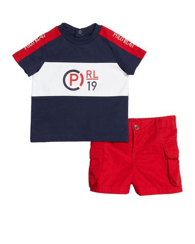 6b64d08fa Boys' T-Shirt Shirt and Cargo Short Set Size 6M-2 Quick Look. Ralph Lauren  Childrenswear