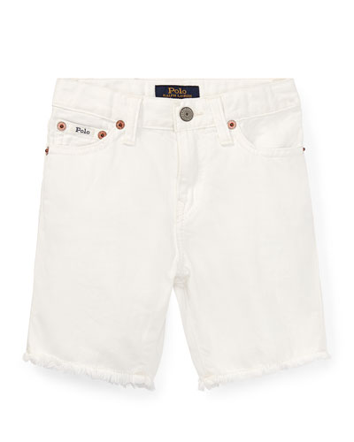 Raw Edge Denim Shorts  Size 5-7