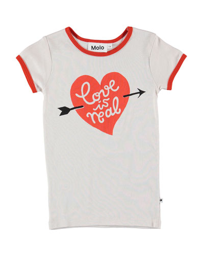 Rhiannon Love Is Real Ringer Tee  Size 4-12