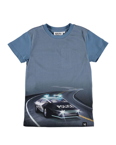 Raven Police Car Graphic Tee  Size 4-10
