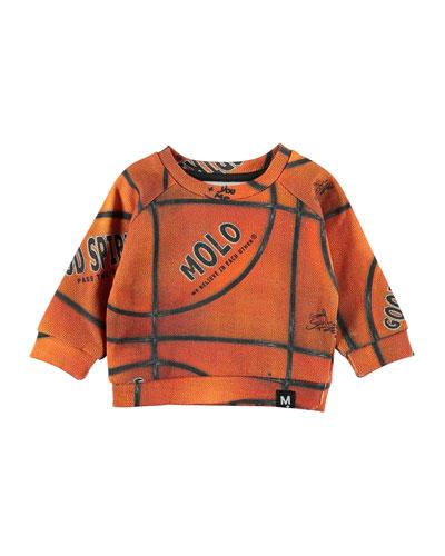 Dag Basketball Print Raglan Sweatshirt  Size 6-24 Months