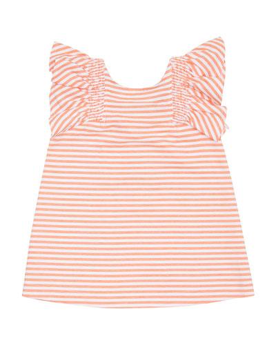 Aelicia Stripe Ruffle Dress  Size 2-4T