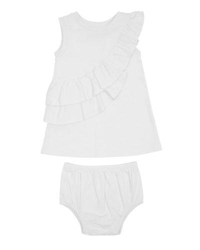 Sleeveless Ruffle Dress w/ Matching Bloomers  Size 12-24 Months
