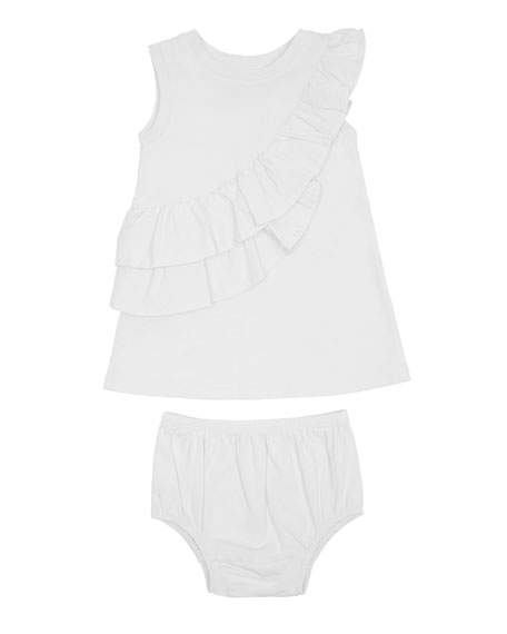 Sleeveless Ruffle Dress w/ Matching Bloomers, Size 12-24 Months