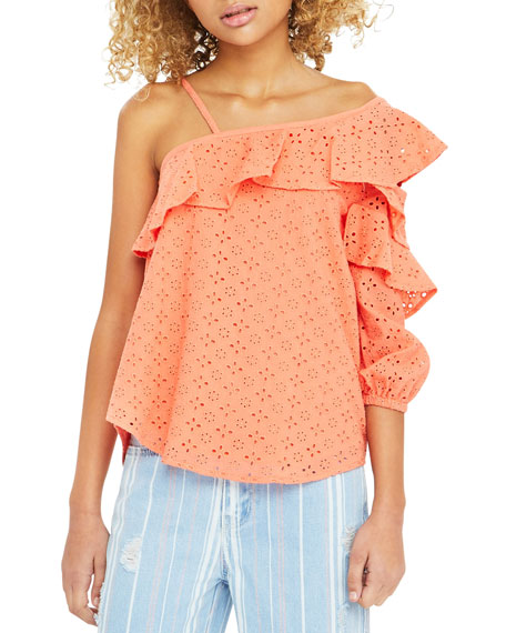 Cherie Eyelet Ruffled Top, Size 7-14