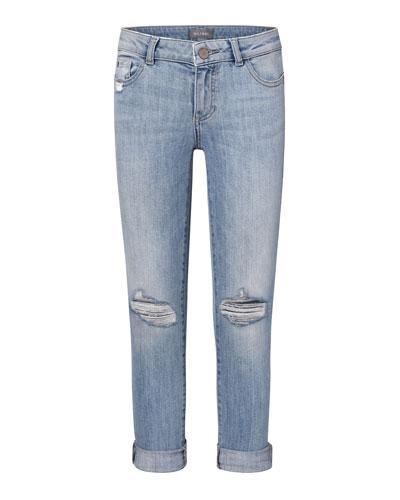Girls' Harper Distressed Boyfriend Jeans  Size 7-18