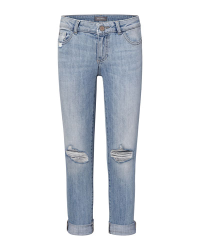 Girls' Harper Distressed Boyfriend Jeans  Size 2-6