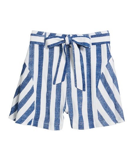 Tegan Striped Bow Shorts, Size 7-14