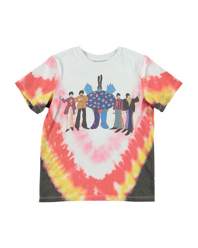 Kid's Tie Dye Beatles Tee  Size 4-14