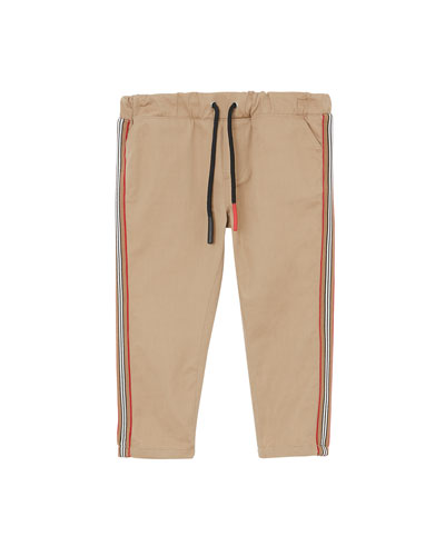 Curran Drawstring Chino Pants w/ Icon Stripe Sides  Size 6M-2