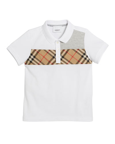 8d3e5f2d015 Jeff Contrasting Polo w  Check Chest Size 3-14 Quick Look. Burberry