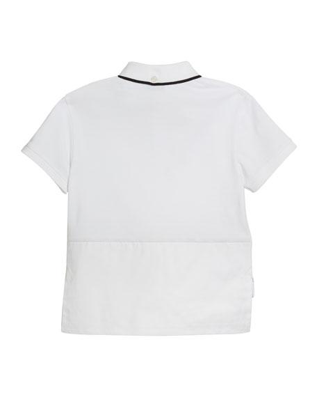 f63d7eedc Burberry Hammond Short-Sleeve Check-Trim Polo Shirt, Size 3-14