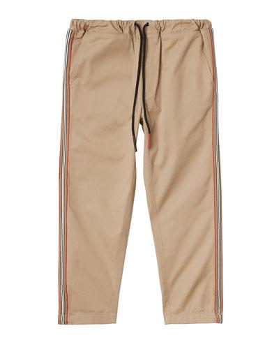 Curran Drawstring Chino Pants w/ Icon Stripe Sides  Size 3-14