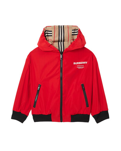 Tommy Icon Stripe Reversible Hooded Jacket  Size 4-8