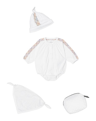 9afcdc5449 Berta Check-Trim 3-Piece Layette Set Size 1-9 Months Quick Look. Burberry