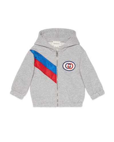 261352a5f Hooded Zip-Up Sweatshirt w/ Contrast Striping Size 6-36 Months